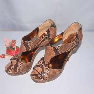 Nine West Snake Skin Platform Sandals Poland 9.5M